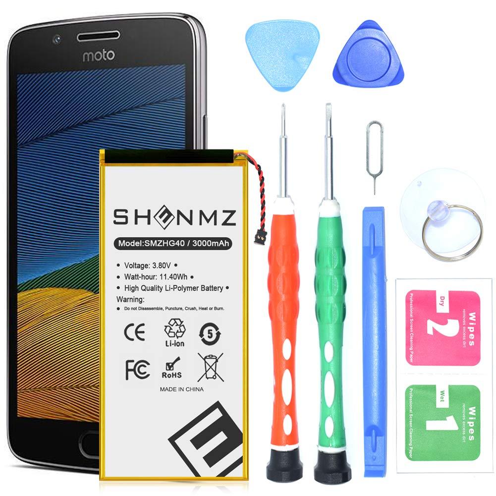 Bateria Celular Moto G5 Plus 5th Generation SHENMZ 3000mAh Li ion Polymer para HG40 XT1677 XT1681 XT1683 XT1684 XT1685 c