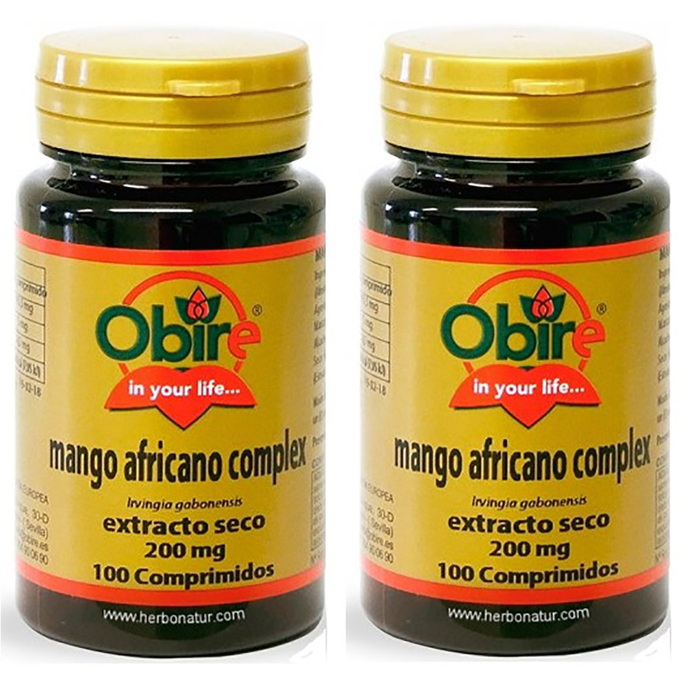 MANGO AFRICANO extr. seco 200 mg 2 x 100 Cáps. OBIRE: Amazon ...