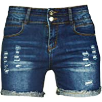 7001b287 PHOENISING Women's Sexy Stretchy Fabric Hot Pants Distressed Denim Shorts, Size 2-16