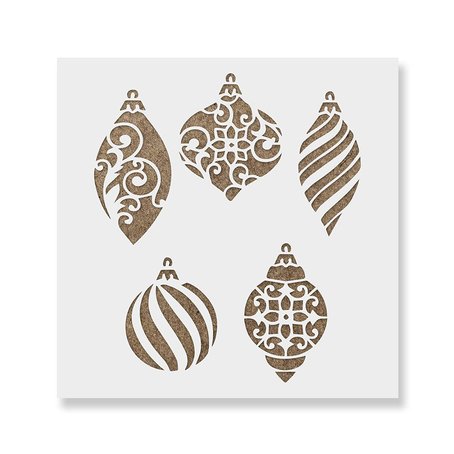 Christmas Stencils For Wood.Christmas Ornaments Stencil Diy Christmas Stencils Of Ornaments That Work Great For Wood Signs And Dzcor