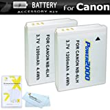 2 Pack Replacement NB-6L Battery Kit For Canon PowerShot SX280 HS, SX500 IS, SX510 HS, SX520 HS, SX170 IS, S120, SX600 HS, SX700 HS, SX610 HS, SX710 HS, SX530 HS, SX540 HS, D30 Camera + More