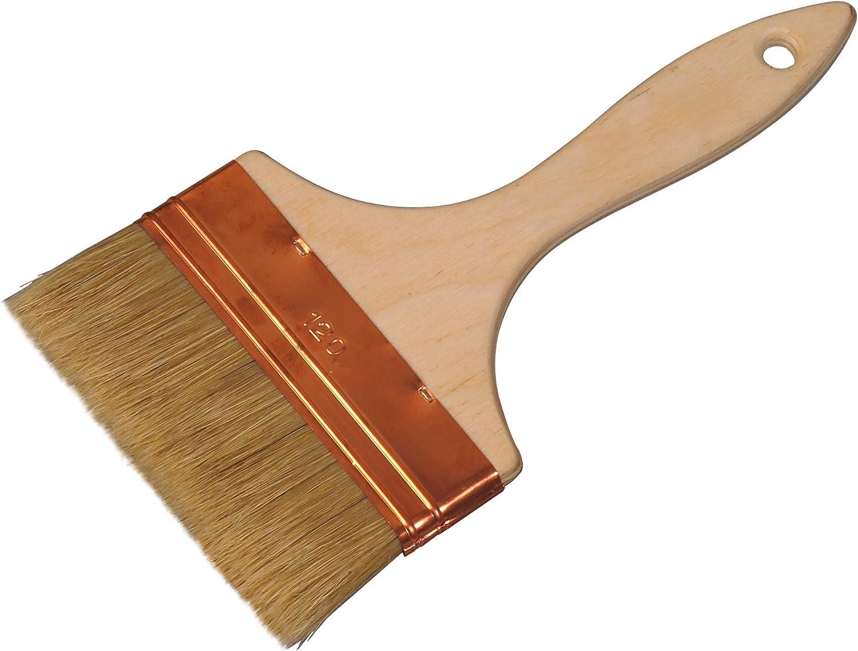 Color Expert 244150 Pinceau qualit/é professionnelle Spalter Soies Blanches Manche bois naturel 150 mm