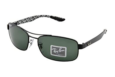 85326c658b Ray-Ban METAL UNISEX SUNGLASS - BLACK Frame CRYSTAL POLAR GREEN Lenses 62mm  Polarized