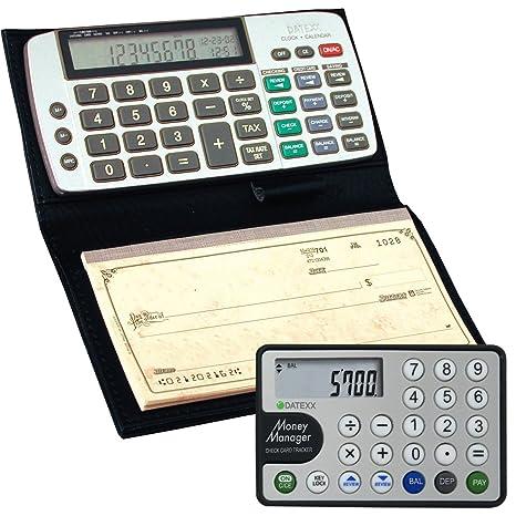 Datexx DB 413 Checkbook Calculator Money Manager