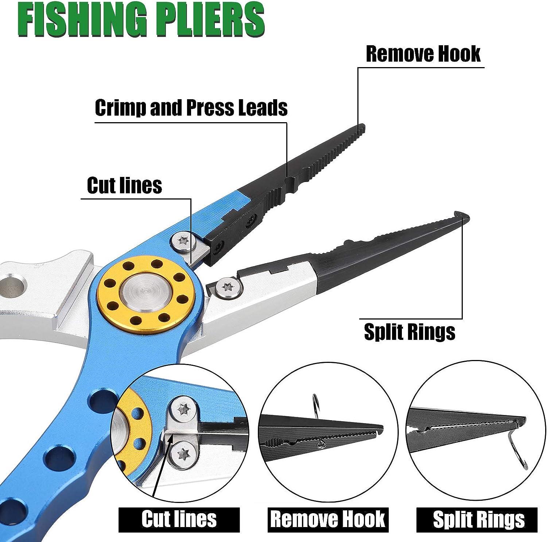 SeaKnight multifunci/ón Pesca Herramientas Aluminio Pesca alicates Hook Remover Pesca l/ínea Cortador