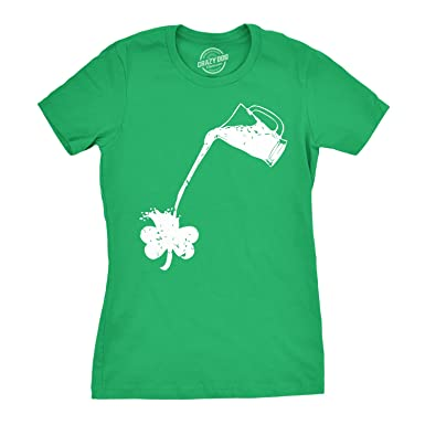 64719f174 Womens Pouring Shamrock T Shirt Funny St Patricks Day Shirt for Girls  (Green) S