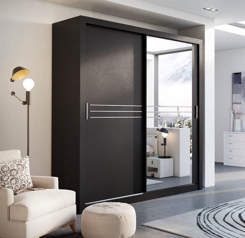 Modern bedroom wardrobe sliding door havana black 203cm sold by modern bedroom wardrobe sliding door havana black 203cm sold by arthauss amazon kitchen home vtopaller Gallery
