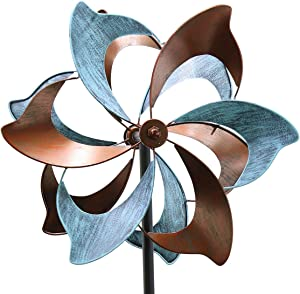 Kinetic Wind Spinners with Stable Stake Metal Kinetic Garden Spinner Lawn Ornament Wind Mill for Outdoor Yard Lawn Garden Decorations