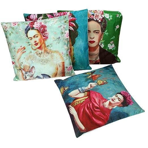 Envejecido Self Portrait Frida Kahlo manta funda de almohada ...