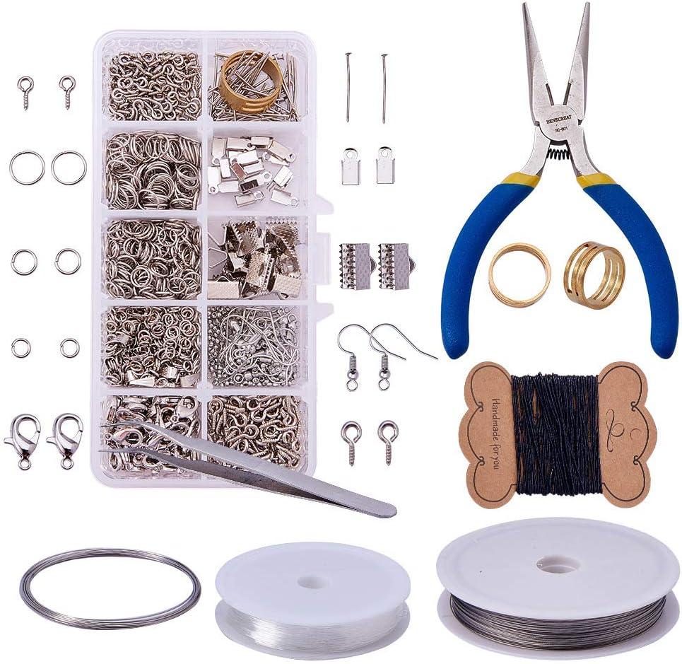 Joyeee Jewelry Making Kit Herramientas de joyería Resultados de la joyería Kit de Inicio Joyas Rebordear Kit de Herramientas de reparación y reparación Kit de Suministro de joyería