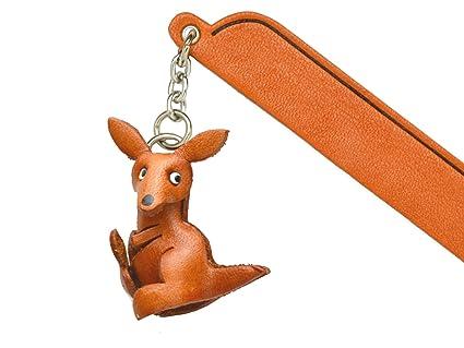 037aff950e66d Amazon.com : Kangaroo Leather Charm Bookmarker VANCA Handmade in ...