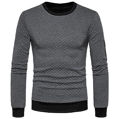 MU2M Men's Winter Crew Neck Color Block Big & Tall Pullover Sweatshirt