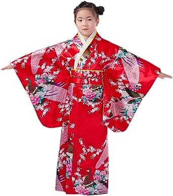 YL Japón Pavo Estampado Floral para las Niñas/Chicas para