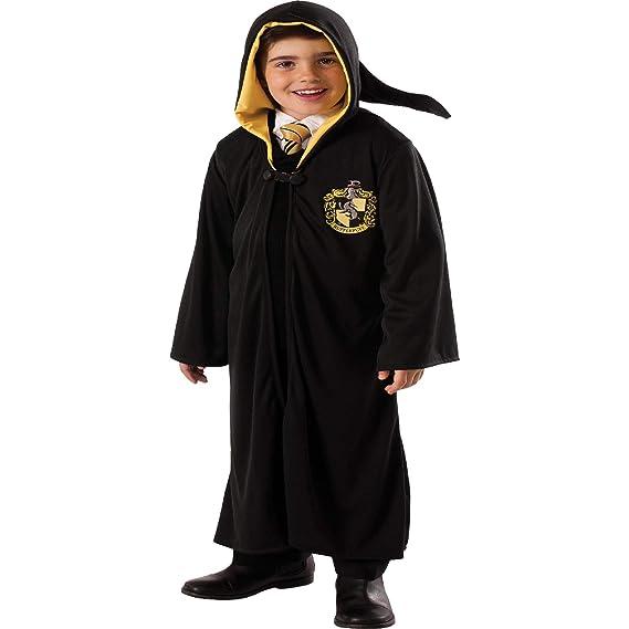Harry Potter niños Traje Capa Hufflepuff Negro: Amazon.es ...