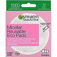 Garnier, tvättbara bomullsrondeller, kan användas många gånger var för att avlägsna smink mm, Micellar Reusable Eco Pads…