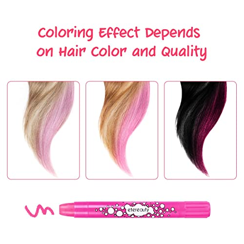 Washable Hair Dye Chalk Pens 8 Colourful for kids