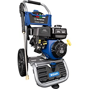 Westinghouse Gasoline Powered Pressure Washer, WPX2700H, Soap Tank and Four Nozzle Set