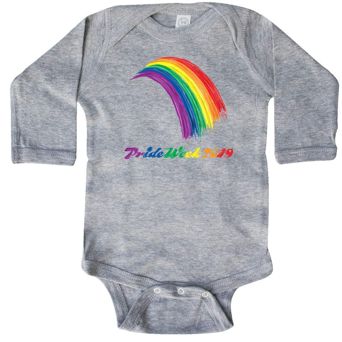 inktastic Pride Rainbow Painted in Oils Pride Week 2019 Baby T-Shirt