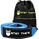 Stay There 3'' x 30 ft Tow Strap, Heavy Duty with 30,000 lb Capacity-Emergency Towing Rope for Recovery Vechiles-Storage…
