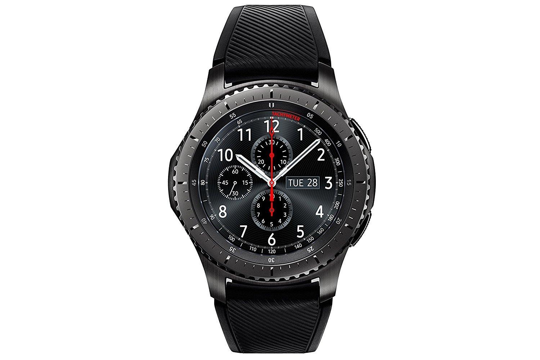 """Samsung Gear S3 Frontier - Smartwatch Tizen (pantalla 1.3"""" Super AMOLED 360x360, GPS integrado, batería 380 mAh, altavoz integrado), color Gris (Space Gray)- Version española product image"""