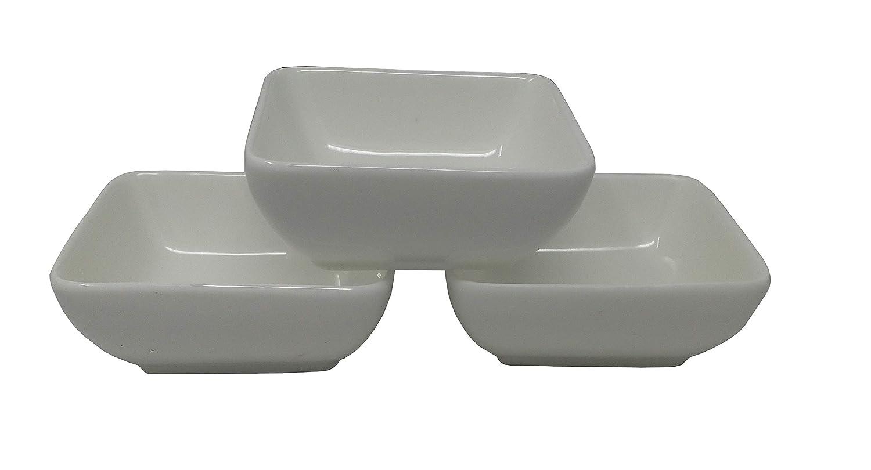 Weiße Keramik Tapas Servierschüsseln im Set oval geformtes Set Alfresco 3-teilig