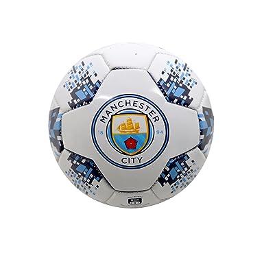 6dab42a04b36 Manchester City FC Official Crest Design Nova Football (Size 1)  (White Navy Sky Blue)  Amazon.co.uk  Clothing