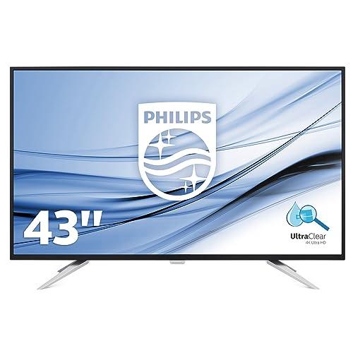 Philips Monitores BDM4350UC Pantalla para PC de 43 UHD 4K resolución 3440 x 2160 Pixels tecnología WLED Contraste 1000 1 5 ms FlickerFree Altavoces VESA Displayport HDMI
