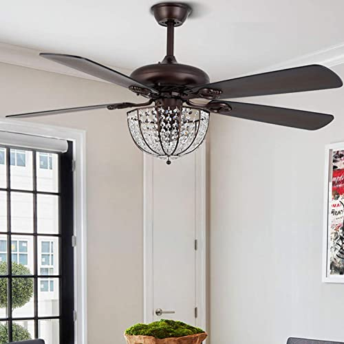 52-inch Ceiling Fan Light Fixture Chandelier Bronze