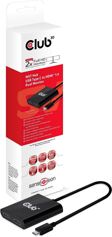 Club 3D CSV-5200 - Hub Extensor de vídeo con DisplayPort 1.2 ...