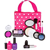 PixieCrush Pretend Play Makeup Kit. Designer Girls Beauty Basics Polka Dot Set