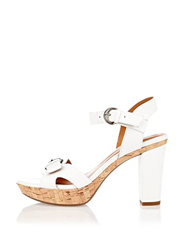 Geox Sandalo con Tacco Bianco EU 39: Amazon.it: Scarpe e borse