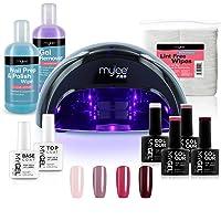 Mylee Compleet Professioneel Gelnagellak Ledlamp Kit, 4x MyGEL Nagellak, Top & Base Coat, Mylee PRO Salon Convex Curing…