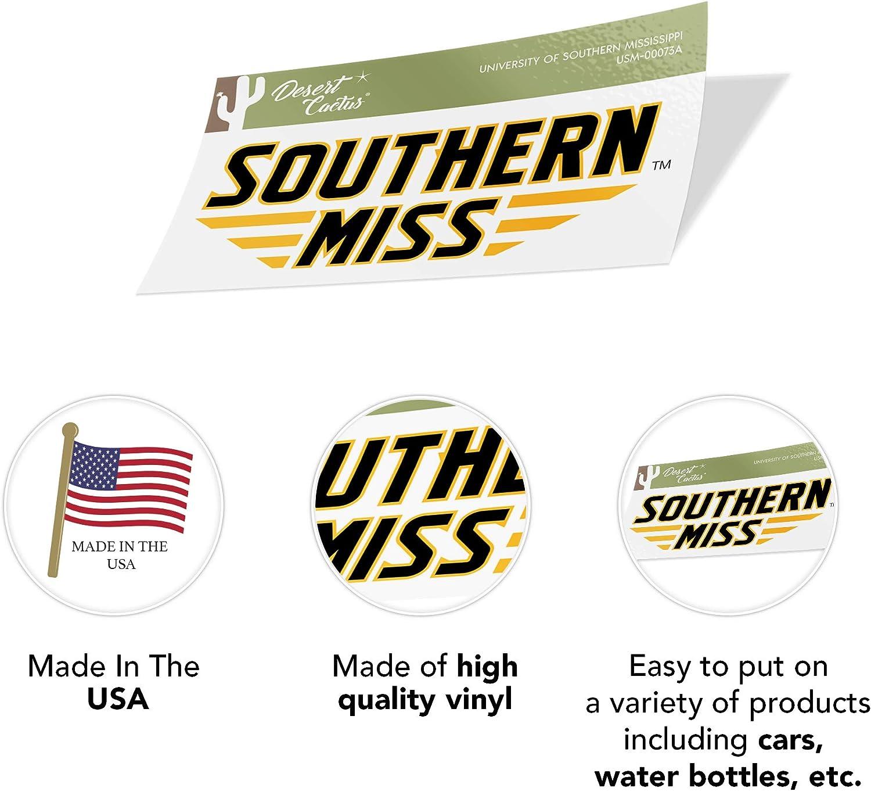 Sticker - 00073A University of Southern Mississippi USM Golden Eagles NCAA Vinyl Decal Laptop Water Bottle Car Scrapbook