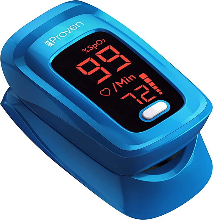 iProven Pulse Oximeter Fingertip Blood Oxygen Saturation Monitor with Heart Rate Monitor