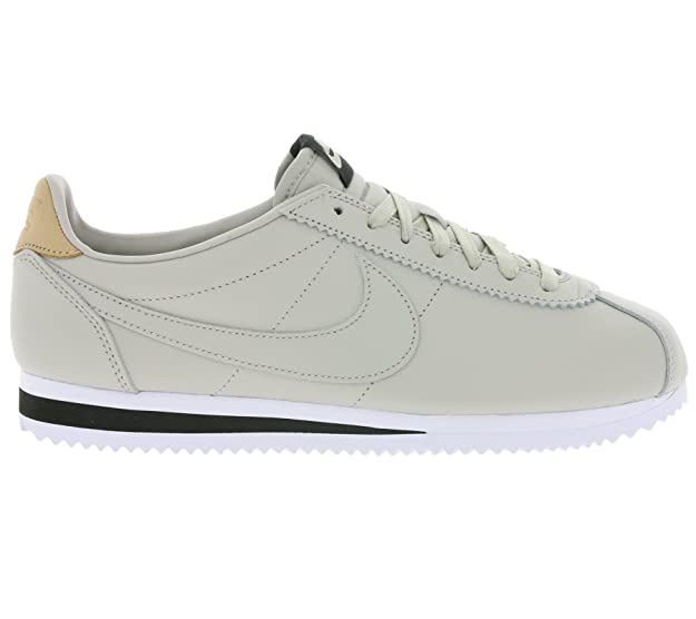 NIKE Classic Cortez Leather Special Edition Sneaker en cuir véritable gris 861535 005, Taille:45