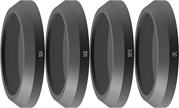 Anbee ANAFI Camera Filter 3-Pack Multi-Coated Neutral Density ND4 Anti-Scratch ND8 Water Resistant Lightweight ND16 Filters for Parrot Anafi Drone