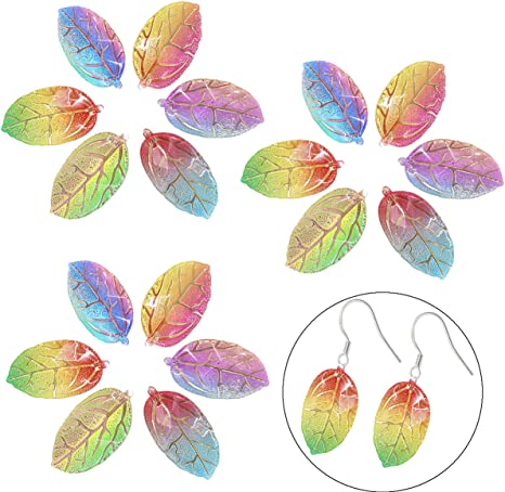 10pcs Colorful Resin Flower Pendants Smooth Mini Charms DIY Craft 37.5x36.5mm