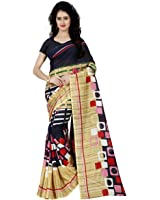 Krishnam Fashion Printed Georgette Saree(Free Size, Pack Of 1)1242