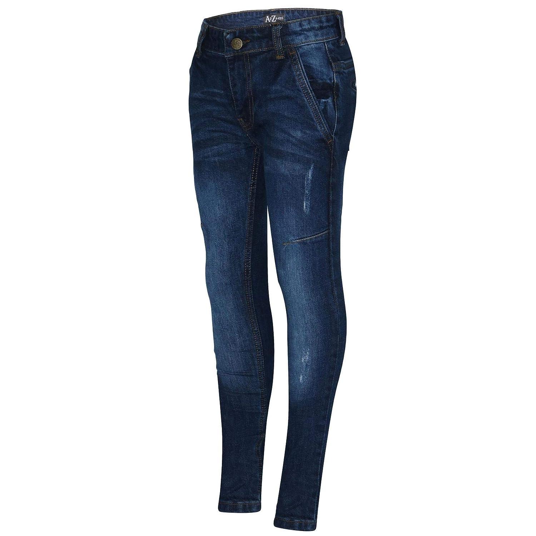 A2Z 4 Kids Kids Boys Stretchy Jeans Designer Denim Skinny Bikers Pants Fashion Slim Fit Trousers New Age 5 6 7 8 9 10 11 12 13 Years