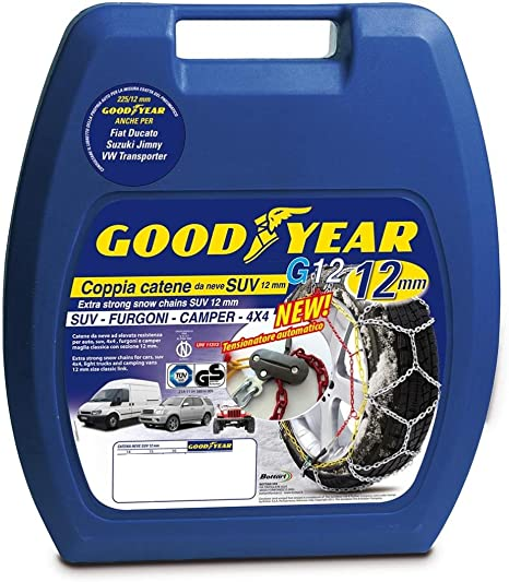 GOODYEAR 77938 CATENE NEVE G12-255 SUV//FURGONI//CAMPER OMOLOGATE TUV E GS ONORM