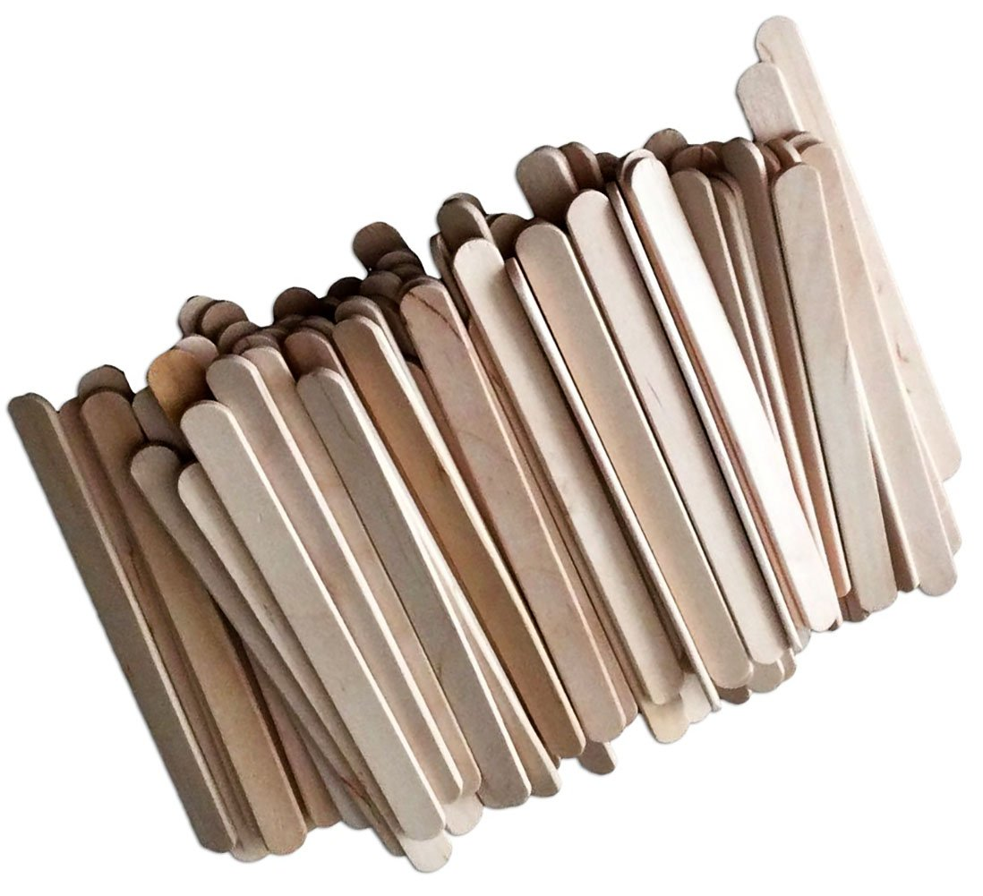 "Durable, Strong & Non-Toxic {4.5"" x .38"" Inch} 10,000 Bulk Pack of Mid Size Multi-Purpose Craft Sticks for DIY, Food, Beauty & More, Made of Baltic Birch Wood w/ Classic Style {Beige} by mySimple Products"