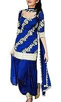 Holyday Women's Cotton Salwar Suit (Hf_Patiala_02_Royal Blue_Free Size, Unstitched)