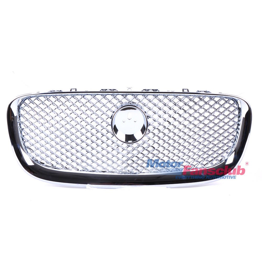 Silver Chrome Upper Grille Front Mesh Grill For Jaguar XF X-F 2008-2011 4 Door