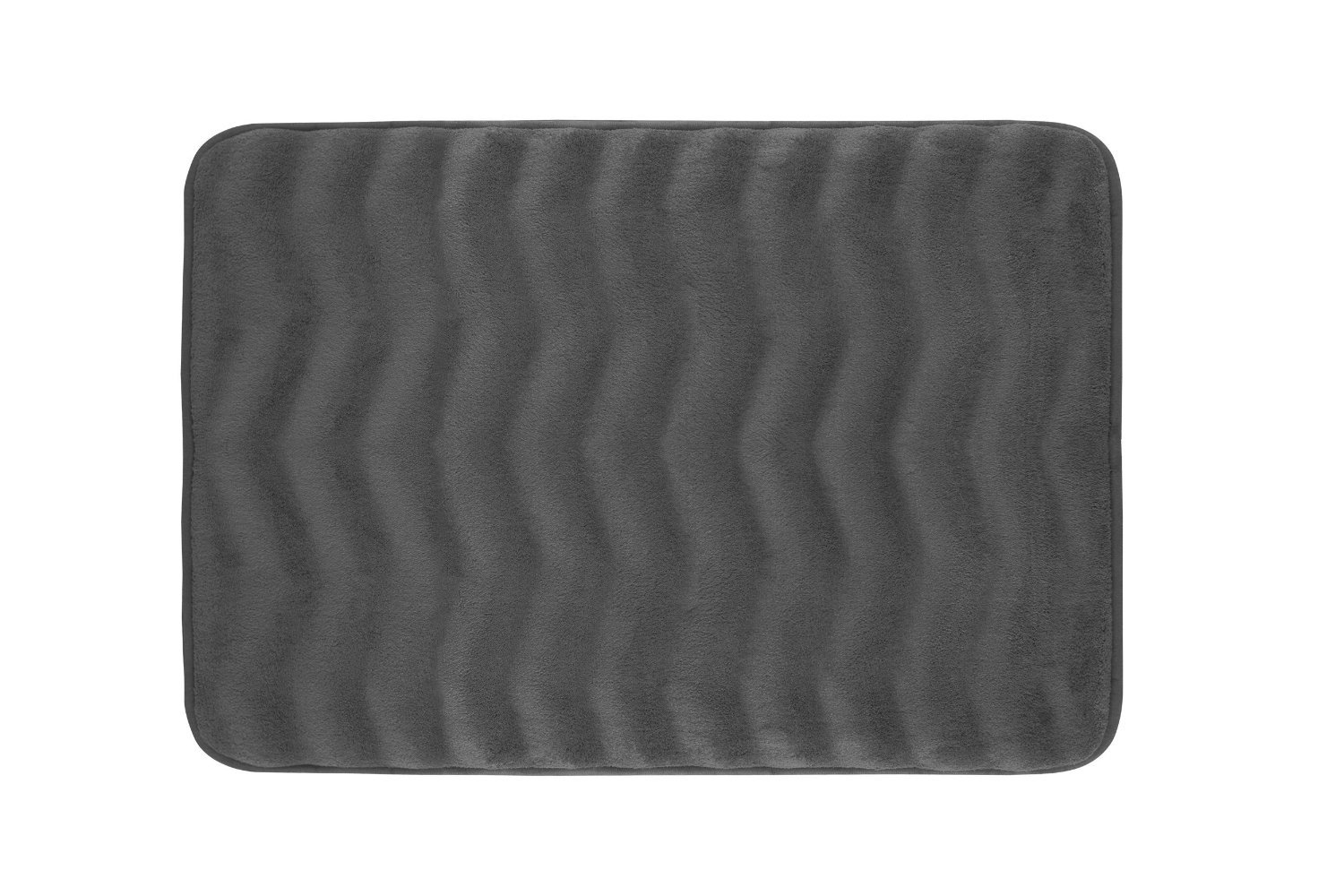 Hlc me soft and absorbent extra thick non skid backing for Charcoal grey bathroom accessories