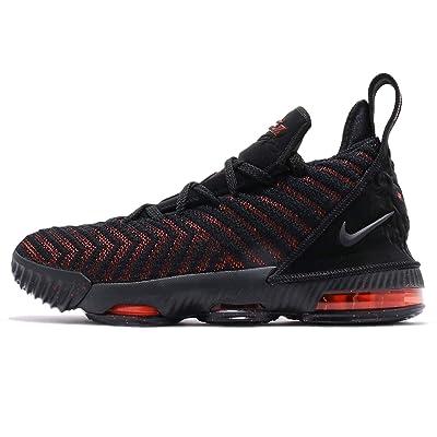 Nike Kids Lebron XVI GS, Black/Black-University RED, Youth Size 7 | Basketball