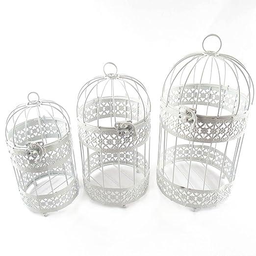 Juego pequeño de jaulas para bodas o una única jaula como centro ...