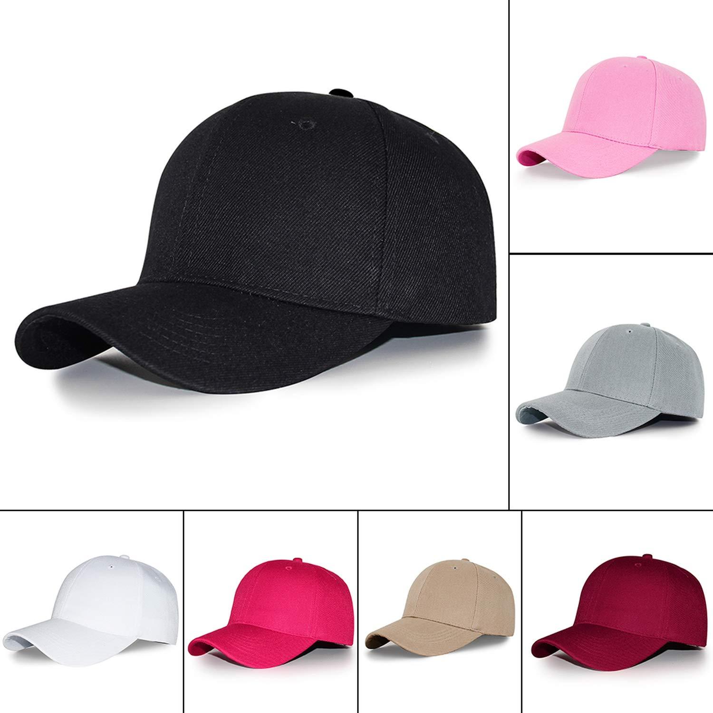 Male Baseball Cap Black White Snapback Baseball Cap for Boys Men Women Sport hat Sun hat