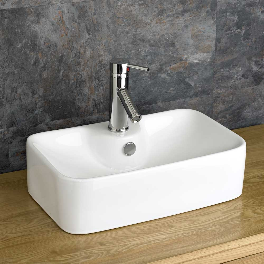 Clickbasin 48.5cm By 29.5cm Forli Rectangular Countertop Basin