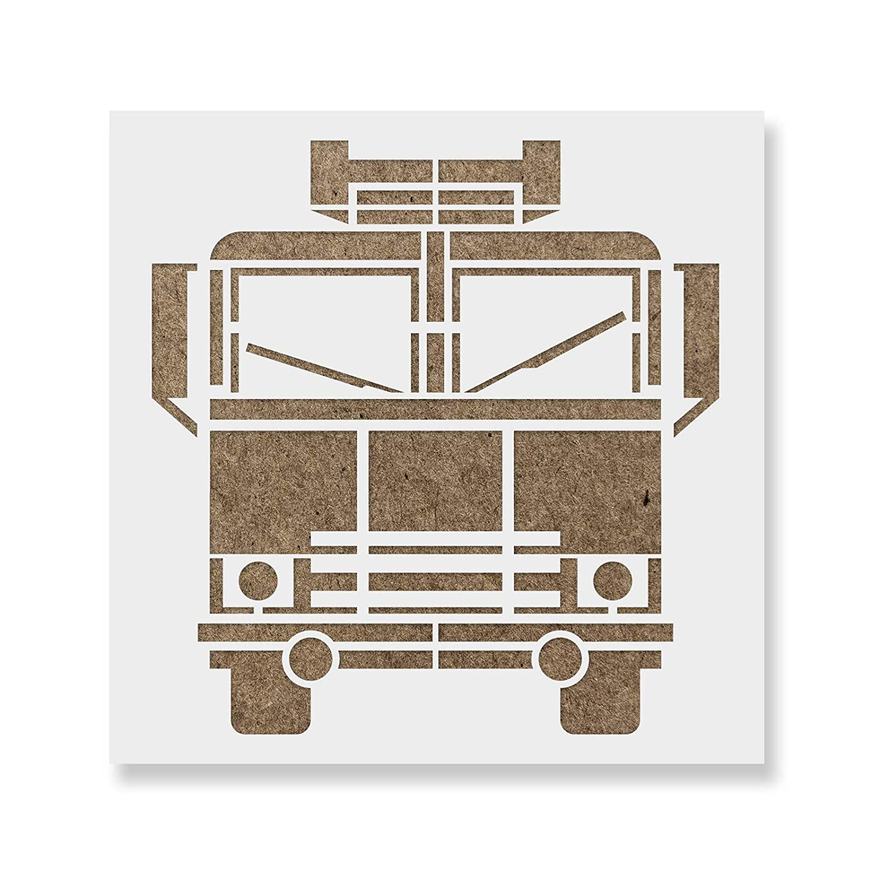 【2018A/W新作★送料無料】 Fire – Truckステンシルテンプレート – 再利用可能なステンシルwith複数サイズあり 35