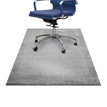 ETM® Protector de suelo alfombras moqueta, extra transparente y maletero, ruedas óptimo deslizamiento para silla tamaños disponibles), vinilo, transparente, ...